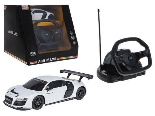 """Машинка на радиоуправлении """"Audi R8"""" с рулем (белая) 53600-10"""