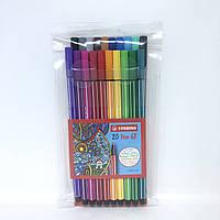 Набор фломастеров Stabilo Pen 68 в полиэтиленовой упаковке 20 шт. Оригинал