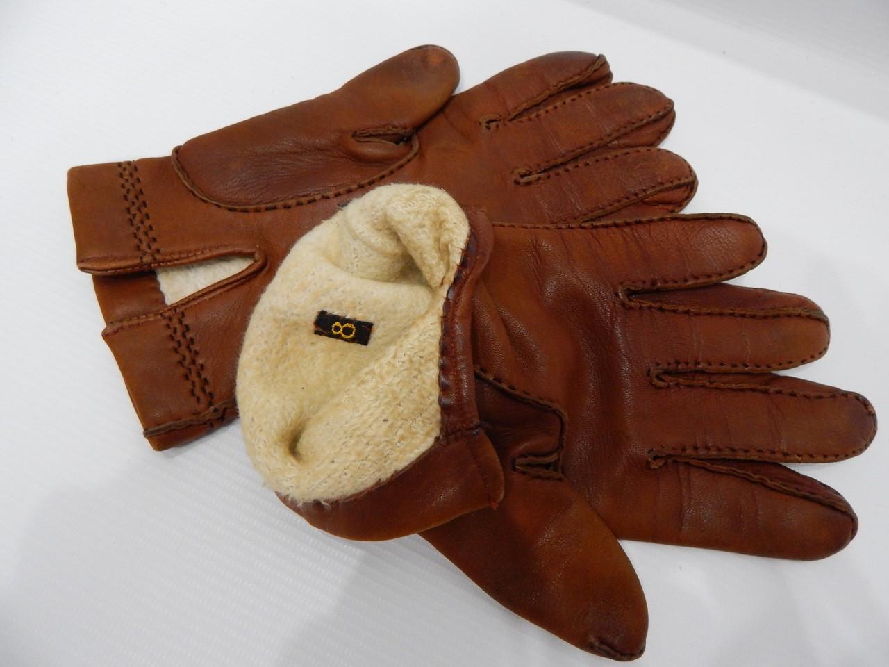 Перчатки женские кожаные утепленные р.L-XL (8) 100PGZ