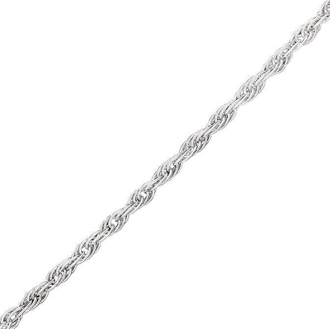 Серебряная цепочка ВЕРЕВКА, ЖГУТИК 1.8 мм размер 55 см