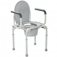 Стальной стул-туалет с откидными подлокотниками OSD-2108D