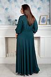Платье мод 591-1,размер 52,54,56,58,60,62 бутылочное, фото 2