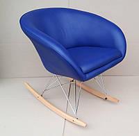 Кресло парикмахерское Мурат R,  экокожа синий