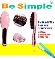 Расческа-выпрямитель Fast Hair Straightener Оригинал, Гофре для волос Gemei GM-2986 в подарок