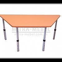 Дитячий стіл трапецієподібний 1040*450*h