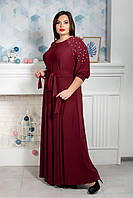 Платье мод 591-3,размер 50,52,54,56,58,60,62 бордо