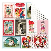 Бумага Authentique, Crush - Cache Valentine Cards/Chocolate Hearts, 30x30 см, 1 шт