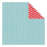 Бумага Authentique,  Crush - Darling Mini Hearts/Medium Dots,  30x30 см, 1 шт