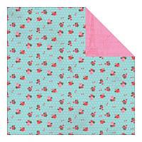 Бумага Authentique, Crush - Sweet Flower Bunches Dot/Distress Pink, 30x30 см, 1 шт