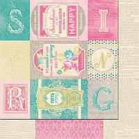 Бумага Authentique, Flourish Enhancements, 30x30 см, 1 шт
