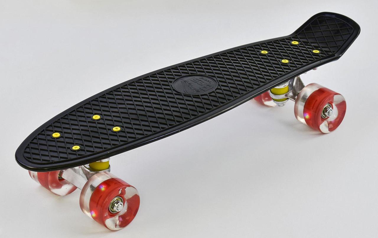 Пениборд Best Board 0990 (черный), колёса PU, светятся