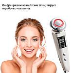 Массажер для лица ультразвуковой LED омолаживающий, очищающий Doc-team Koli D8 5 в 1 светодиодный инфракрасный, фото 7