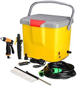Портативная автомойка от прикуривателя High Pressure Portable Car Washer Желтый R0096, КОД: 141197