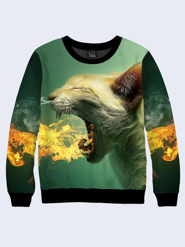 Свитшот женский Огненный котик