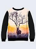 Свитшот женский Поразительный олень, фото 2