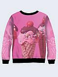 Свитшот женский Мороженое в рожке, фото 2