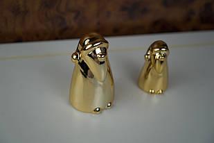 Фігурка діда мороза маленька золота