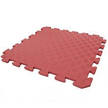 Дитячий ігровий килимок-пазл (мат татамі, ластівчин хвіст) OSPORT 50см х 50см товщина 10мм (FI-0009) Червоний