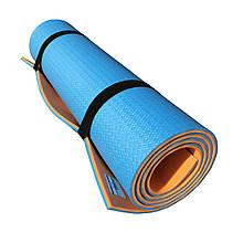 Коврик (каремат) универсальный для спорта и туризма OSPORT Profi 8мм (FI-0122) Сине-оранжевый