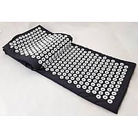 Большой акупунктурный массажный коврик Аппликатор Кузнецова 170х40 см OSPORT (MS-1273) Черный