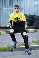 Спортивный Костюм мужской зимний в стиле Adidas Originals  / черно-желтый