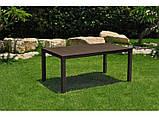 Стол садовый уличный Keter Melody Brown ( коричневый ) из искусственного ротанга, фото 3