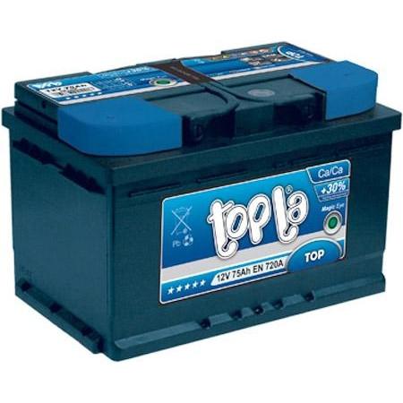 Аккумулятор автомобильный 6СТ-75Ач. 720A. TOPLA TOP