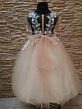 Нарядное детское платье с прозрачной спинкой на 4-7 лет, фото 3