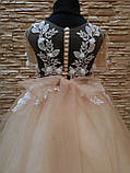 Нарядное детское платье с прозрачной спинкой на 4-7 лет, фото 4