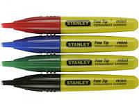 """Маркер-мини """"Stanley®"""" с заостренным наконечником в наборе 4шт. (черный, красный, синий, зеленый) ("""