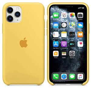Чехол накладка xCase для iPhone 11 Pro Silicone Case желтый