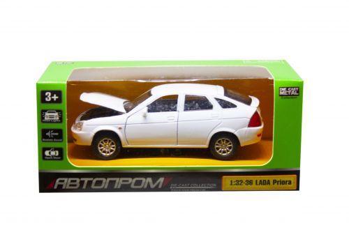 """Машинка """"Lada Priora"""" из серии """"Автопром"""" (белая) 7507"""