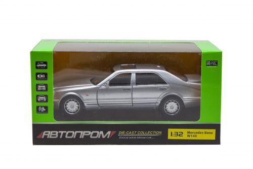 "Машинка ""Mercedes W140"" из серии ""Автопром"" (серебристая) 32014"