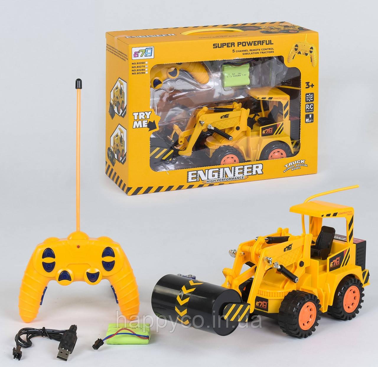 Детская машинка Каток радиоуправлении  аккум 4,8 V, интерактивная игрушка