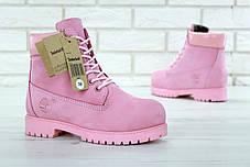 Зимние женские ботинки Timberland Boots Pink (Натуральный мех), фото 3