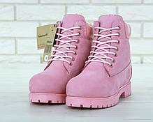 Зимние женские ботинки Timberland Boots Pink (Натуральный мех), фото 2
