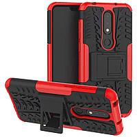 Чехол Armor Case для Nokia 6.1 Plus (X6) Красный