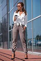 Вязаные брюки с лампасами (хаки, черный) Размер oversize 44-48, фото 3