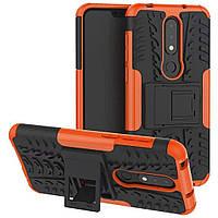 Чехол Armor Case для Nokia 6.1 Plus (X6) Оранжевый