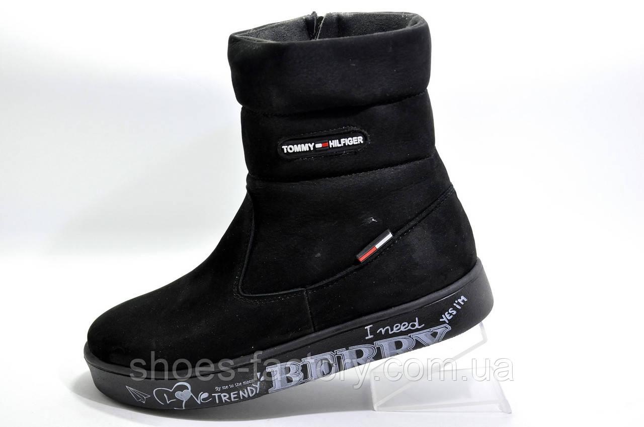 Зимние сапоги в стиле Tommy Hilfiger, Black