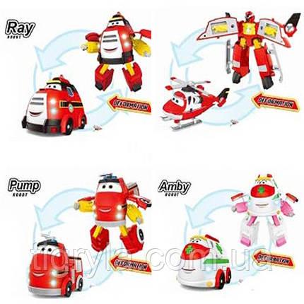 Рэй и пожарный патруль - 4 героя трансформера в комплекте: Рэй, Эмби, Хеликс и Памп, Рей пожарная машинка, фото 2