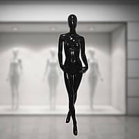Манекен женский лакированый глянцевый черный