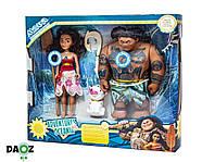 """Набор кукол из мультфильма """"Моана"""" (Бог Мауи и Ваяна), фото 1"""