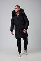 Чоловіча зимова довга крутка парку ОллБлэк чорна, без бренду, фото 1