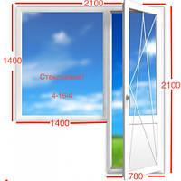 Балконный блок Kommerling 70ST+ (фурнитура Roto)