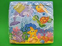 Дизайнерская салфетка (ЗЗхЗЗ, 20шт) Luxy  Морские жители(3006) (1 пач), фото 1