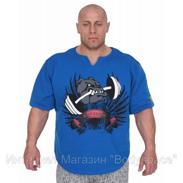 Big Sam, Размахайка Mens Extreme Bodybuilding Rag Top T-Shirt 3209, Синий
