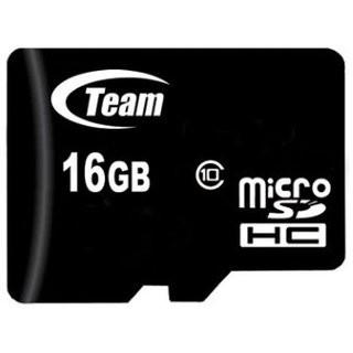 Карта памяти micro SDHC 16Gb Team (Class 10) (TUSDH16GCL1002), Class 10, adapter