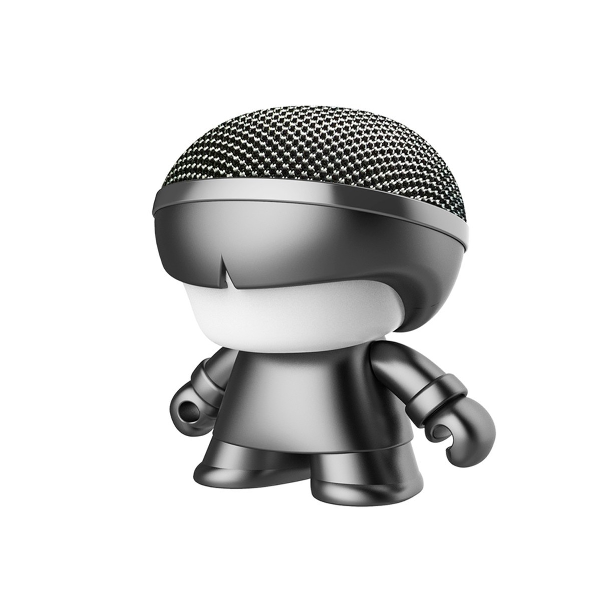 "Акуст. система XOOPAR серии ""Металлик"" - Mini XBOY (7,5 cm,сер.,Bluetooth,USB-каб,подсв., ремешк.)"