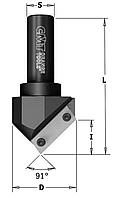 Фреза V-образного профиля пазовальные, со сменными ножами ЧПУ